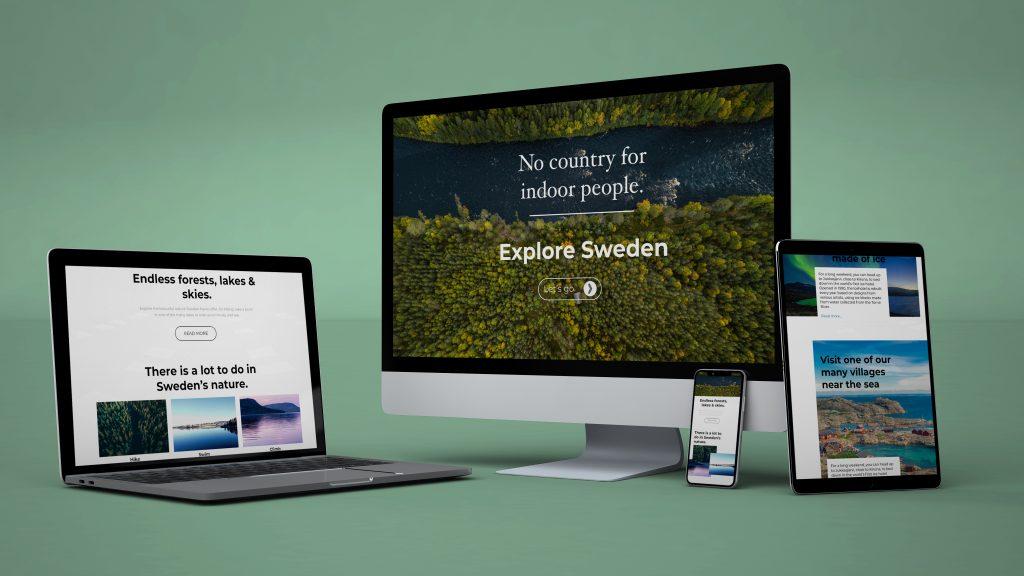 zweden website ontwerp